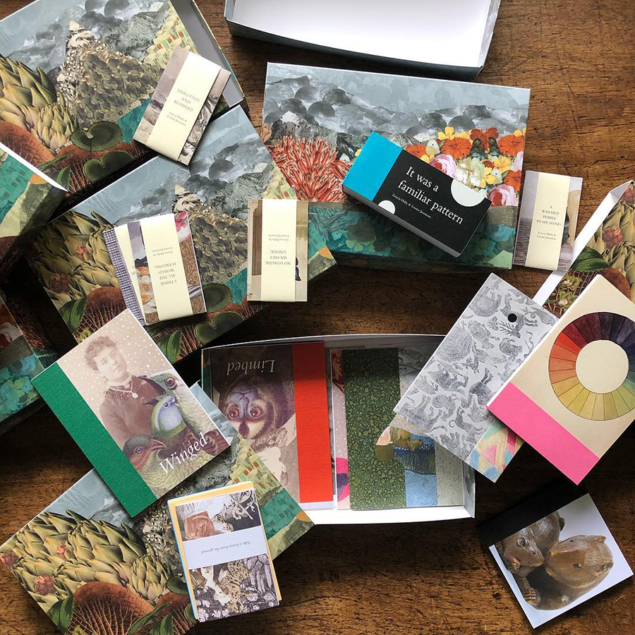 Nineteen: a compilation box of zines, 2017 – 2018 , in process