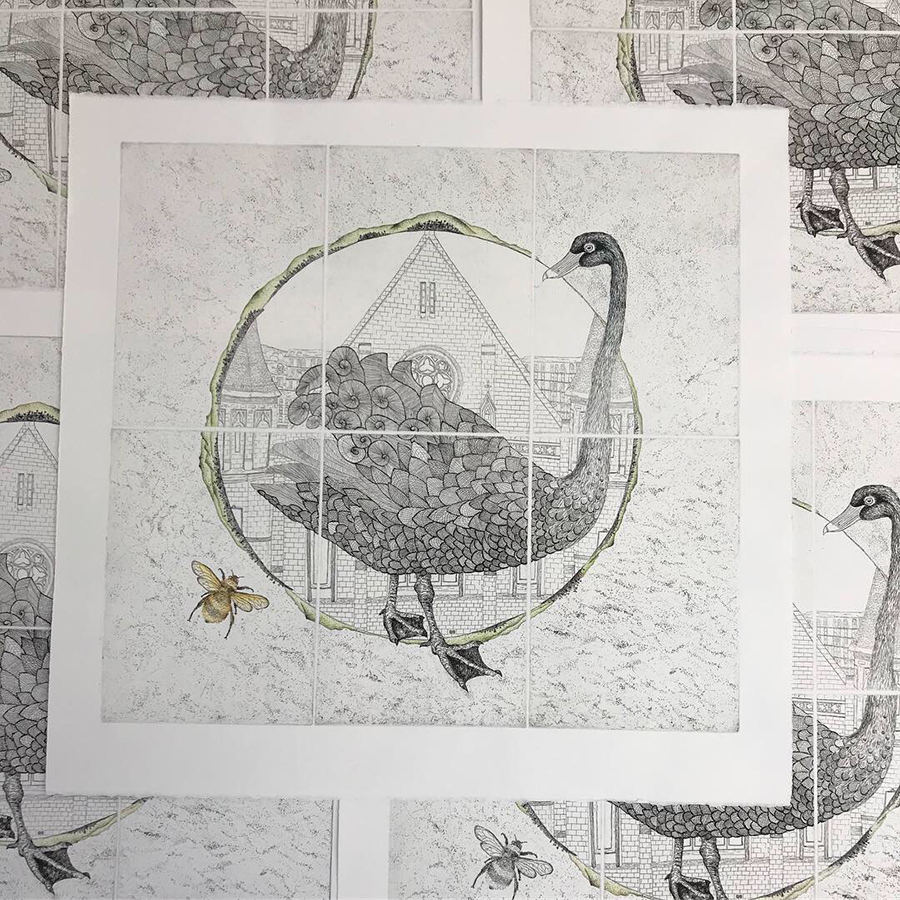 (This work was produced with APW Printers at Australian Print Workshop, Melbourne, as part of Australian Print Workshop's French Connections project curated by APW Director Anne Virgo OAM)