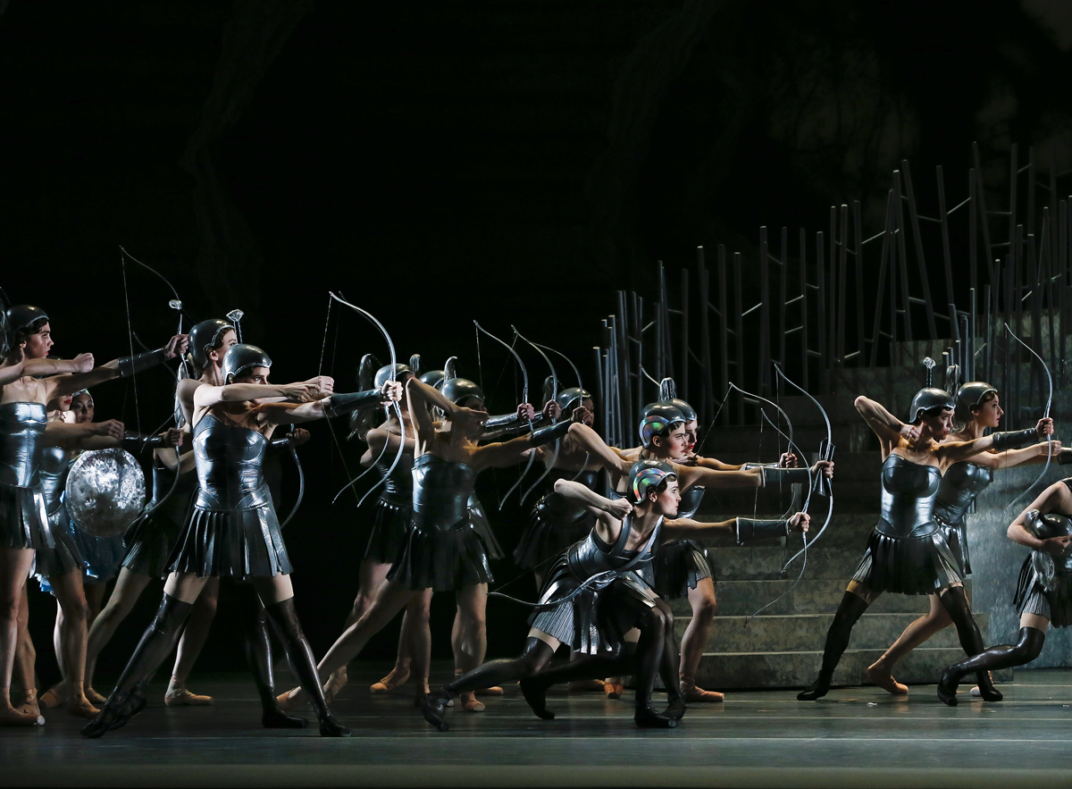Artists of The Australian Ballet in Stanton Welch's  Sylvia , 2019 (image credit: Jeff Busby)