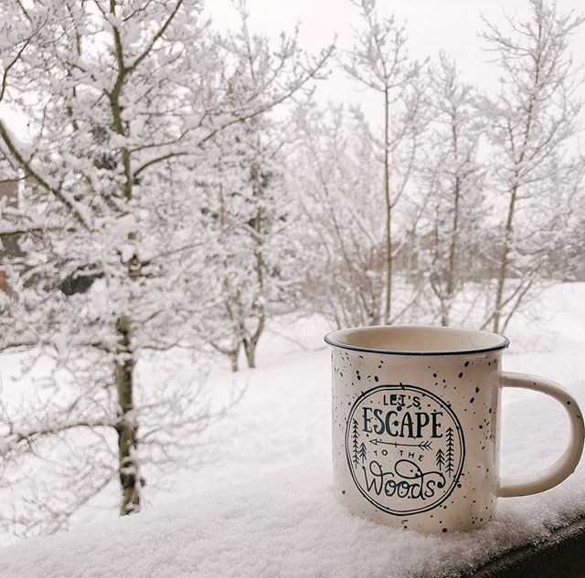 """Snow totally fits my aesthetic. 🤪🏔 • No lengthy, """"pour-my-heart-out"""" post cuz I'm tired of that & I just wanna post a cute photo of my@mug cuz I'm obsessed with mugs...specifically adventure/mountain/exploring themed ones 🙃 Please don't hate me Instagram algorithm 🤣 • #snowdays #snow #mammoth #snowaesthetic #exploremore #wanderoften #wander #wanderinthewoods #letsescapetothewoods #freshsnow #adventuregirl #mountaingirl #mountainbabe #outdoors #naturelover #tea #tealover #mug #mugcollecter #adventuremug #ig #instagram #instaalgorithm"""