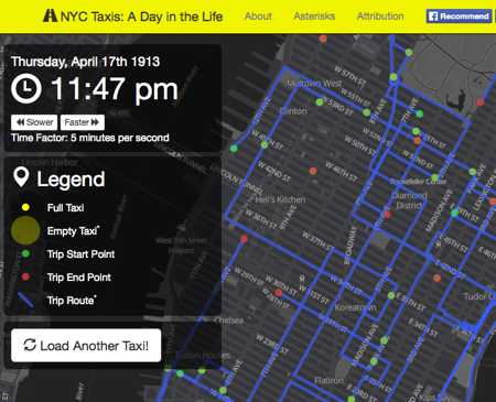NYC Taxis: A Day In the Life  via  Gigazine