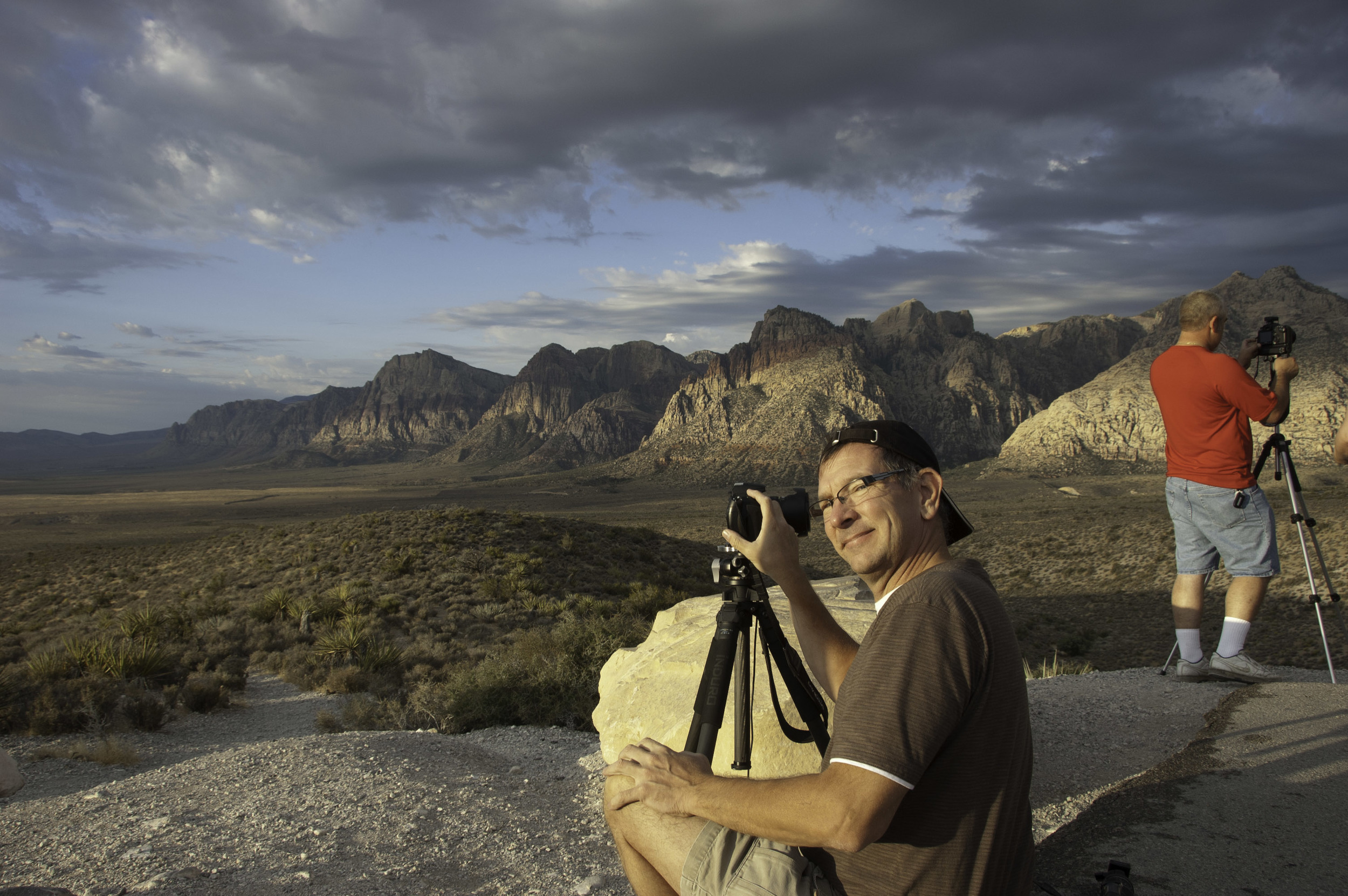 A photo of Steve, photographing at Red Rock Canyon near Las Vegas, NV