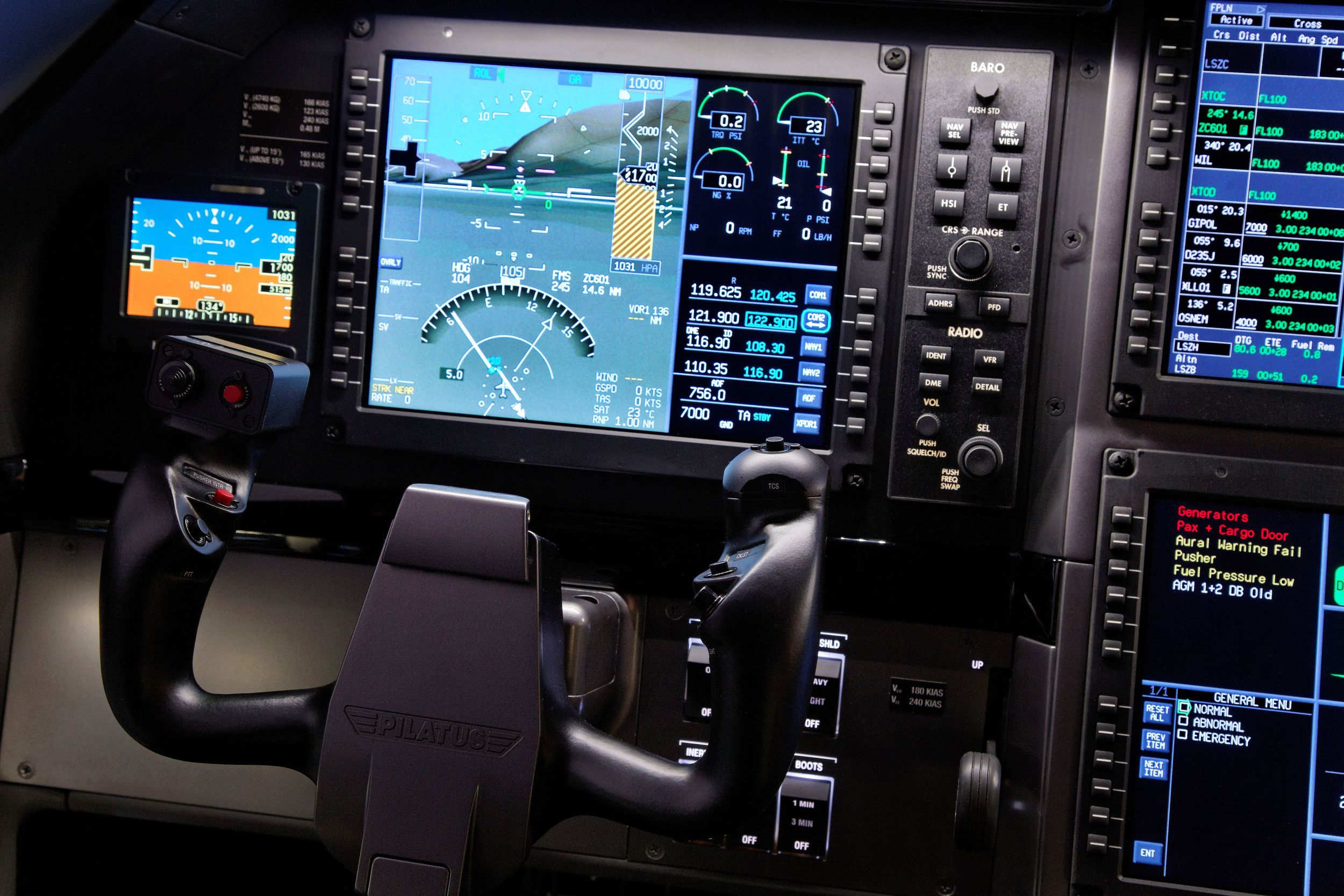 Modern avionics for safety.