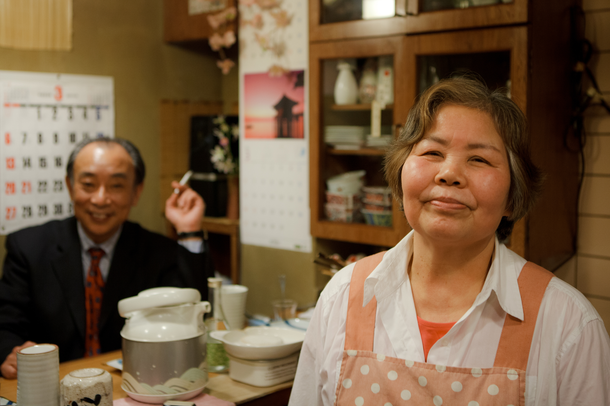 March 27, 2011 - Michiko with a regular of 30 years