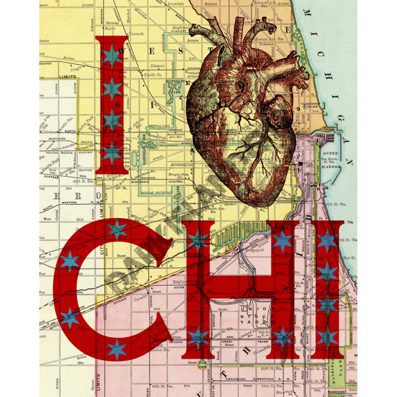 I Heart Chi Print by DarkIsandCity