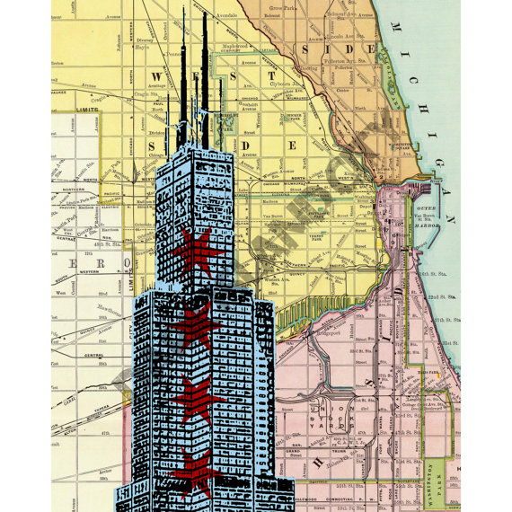 Sears Tower Print by DarkIslandCity