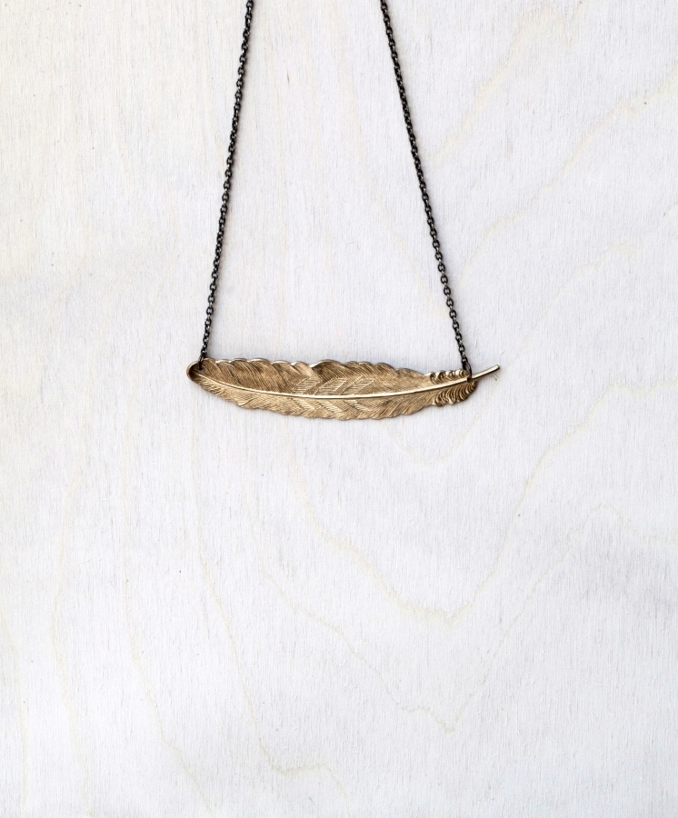 Feather Necklace by Byrdie