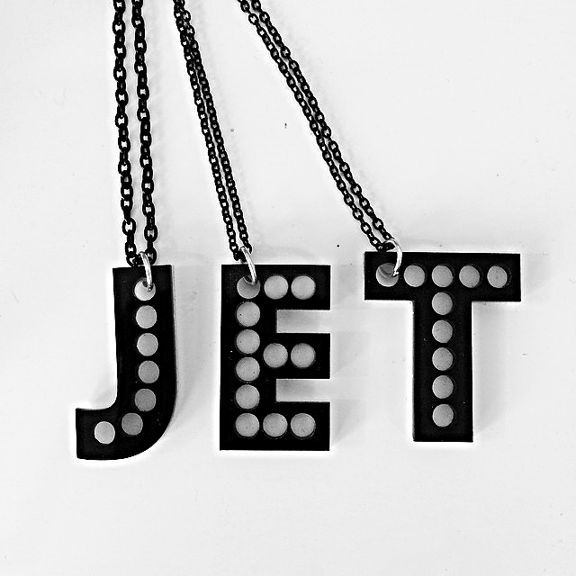 B. GOODS MARQUEE MONOGRAM NECKLACES - IN-STORE NOW! $20 (ONLINE SOON - CONTACT US FOR INFO.