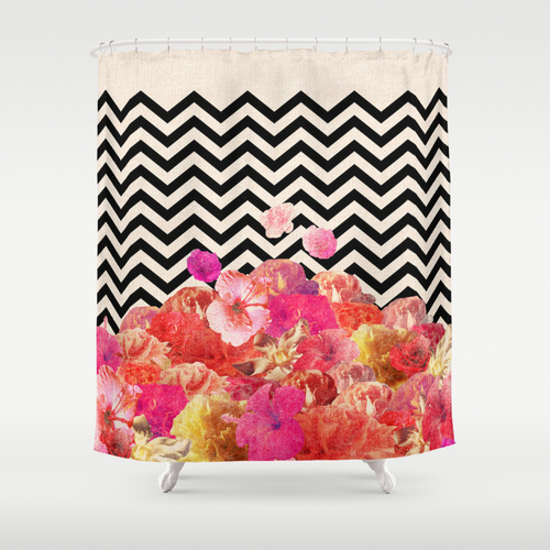 SOCIETY 6  NOW OFFERS SHOWER CURTAINS IN A GAZILLION AMAZING DESIGNS