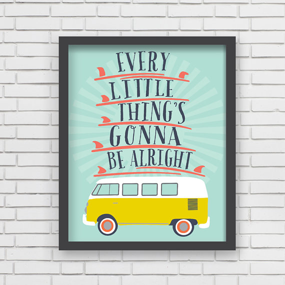 LUCY DARLING'S  GONNA BE ALRIGHT  SURF PRINT