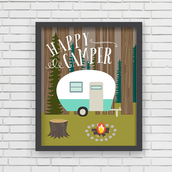 LUCY DARLING'S  HAPPY CAMPER  PRINT