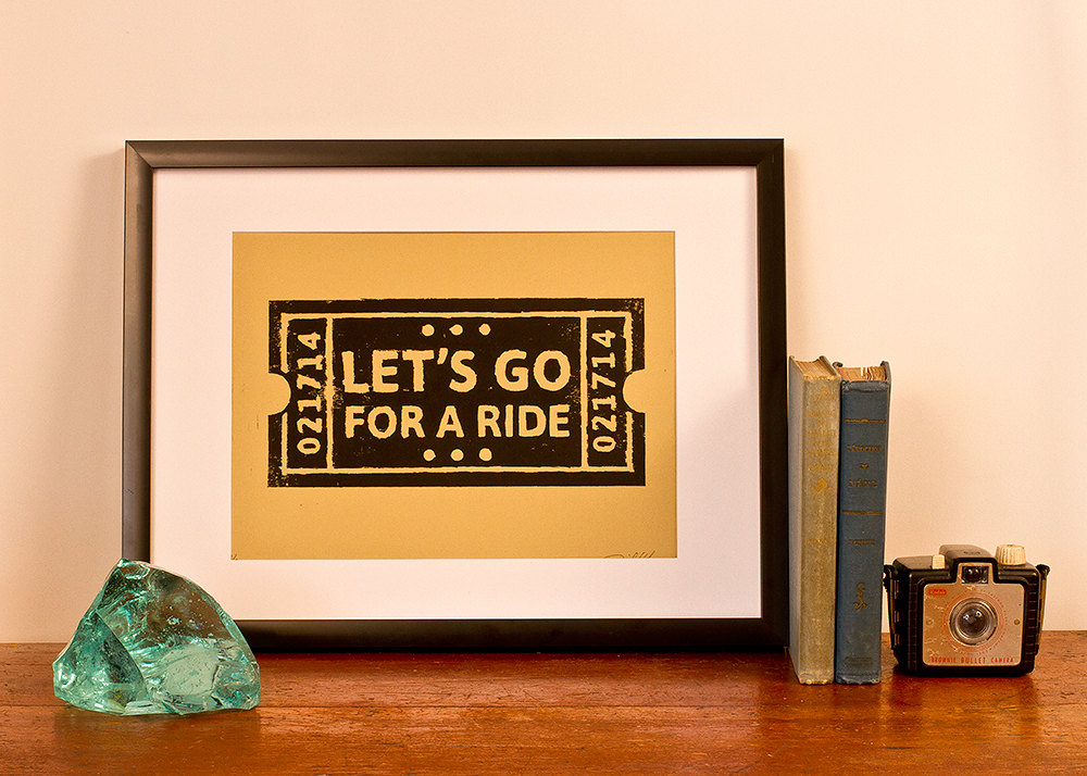 GENERaL INDUSTRY'S LET'S GO FOR A RIDE  PRINT