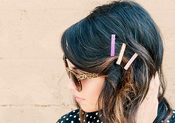 ETSY'S  GLITTER HAIRCLIPS  HOW-TO