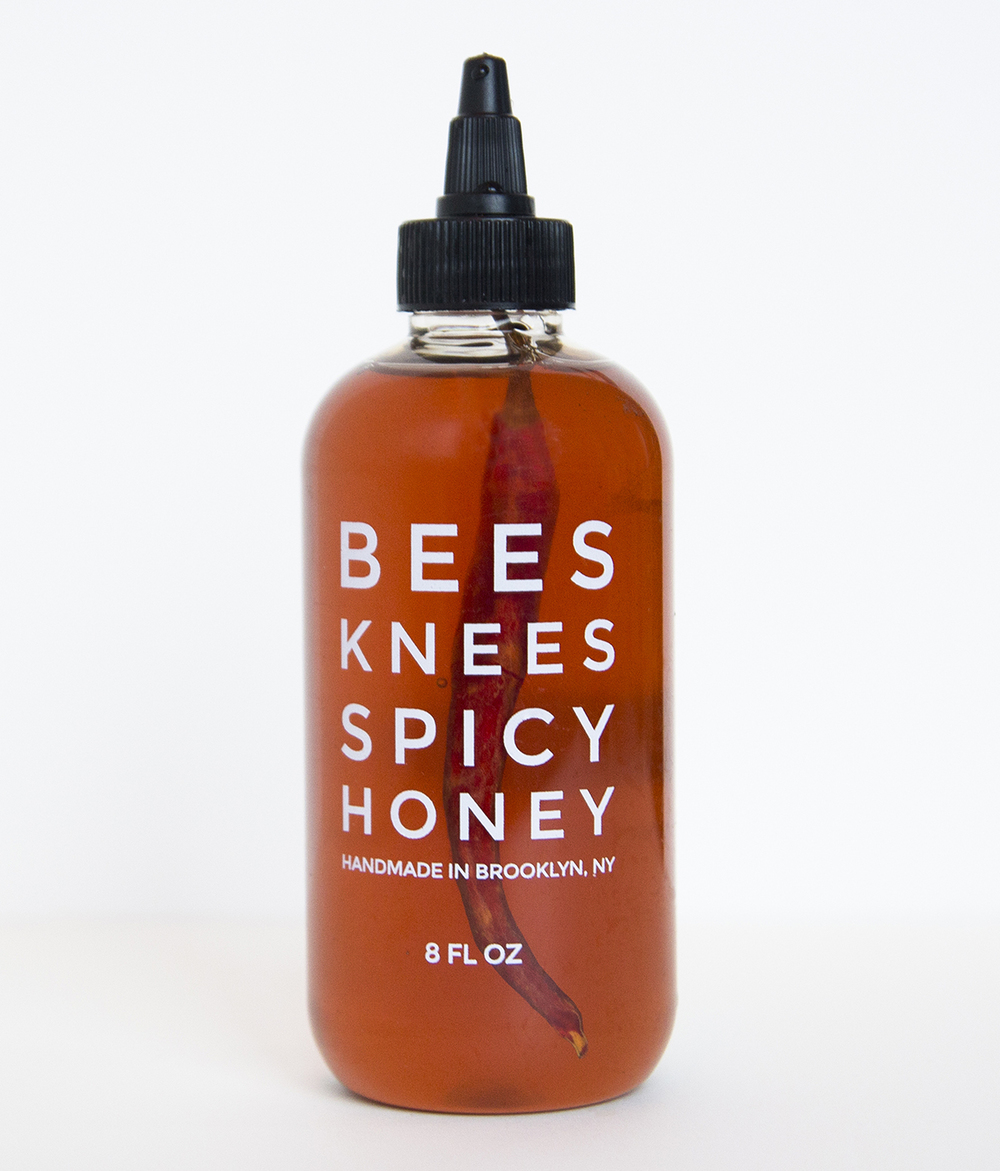 BEES KNEES SPICY HONEY  HAS AWESOME PACKAGING. PLUS, IT'S NOW AVAILABLE AT DOMESTICA. WITH THX TO  DIELINE .