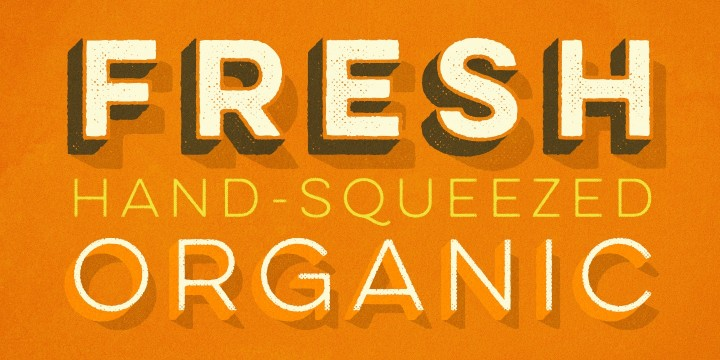 """RETRO STACKABLE  """"YULO"""" FONT  BY YELLOW DESIGN STUDIO - ON SALE $9 FOR 10 STYLES."""