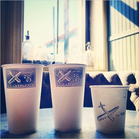 FOR YOUR NEXT PARTY, STEAL THIS STAMPED PAPER CUP IDEA FROM PHILLY'S  ONE SHOT CAFE