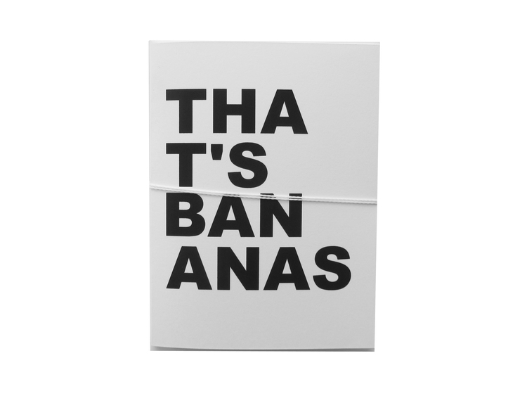 that's bananas card cult paper