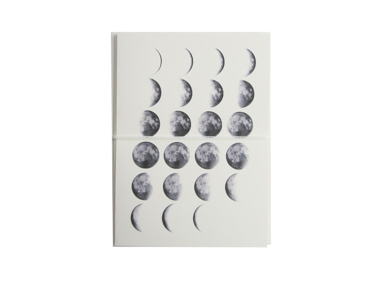 moon phases card cult paper