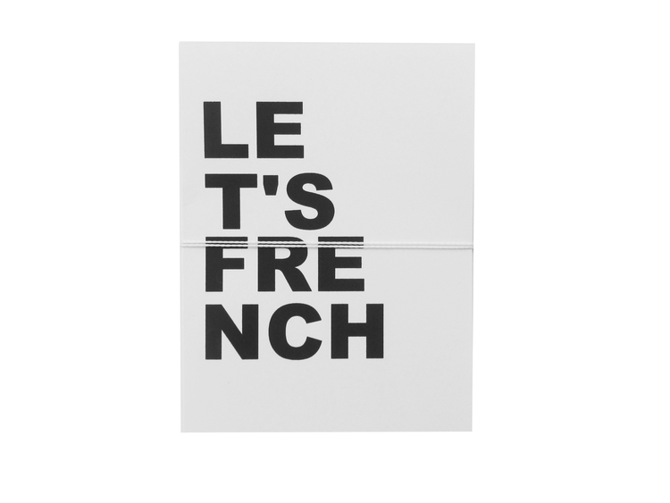 let's french card cult paper