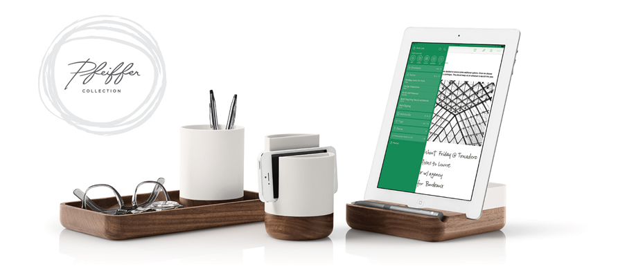 EVERNOTE AND PFEIFFER'S  IPAD STAND + ACCESSORIES