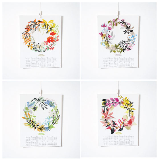 KATIE VERNON'S HEALING WREATH 2015 CALENDAR PRINTS - AVAILABLE IN IN-STORE + IN OUR  WEBSHOP