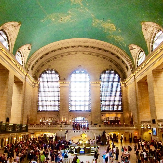 GRAND CENTRAL STATION - If you're looking for monuments to industry, it's easy to overlook NYC's Grand central Station. This is my go-to side trip for kids - usually around lunchtime because the lower level houses a massive food court, including the popular Shake Shack burger joint - a great burger for your bucks. Whisper in the corners near the Oyster Bar for a quick sound travel experiment, then go in and behold the beautiful architecture surrounding their gorgeous Saarinen tables and chairs. I don't necessarily recommend their menu, but they're oysters are great - they have happy hour M-Sat + you can slurp all you can eat for about a $1 each.Photo:@amelia_lewis
