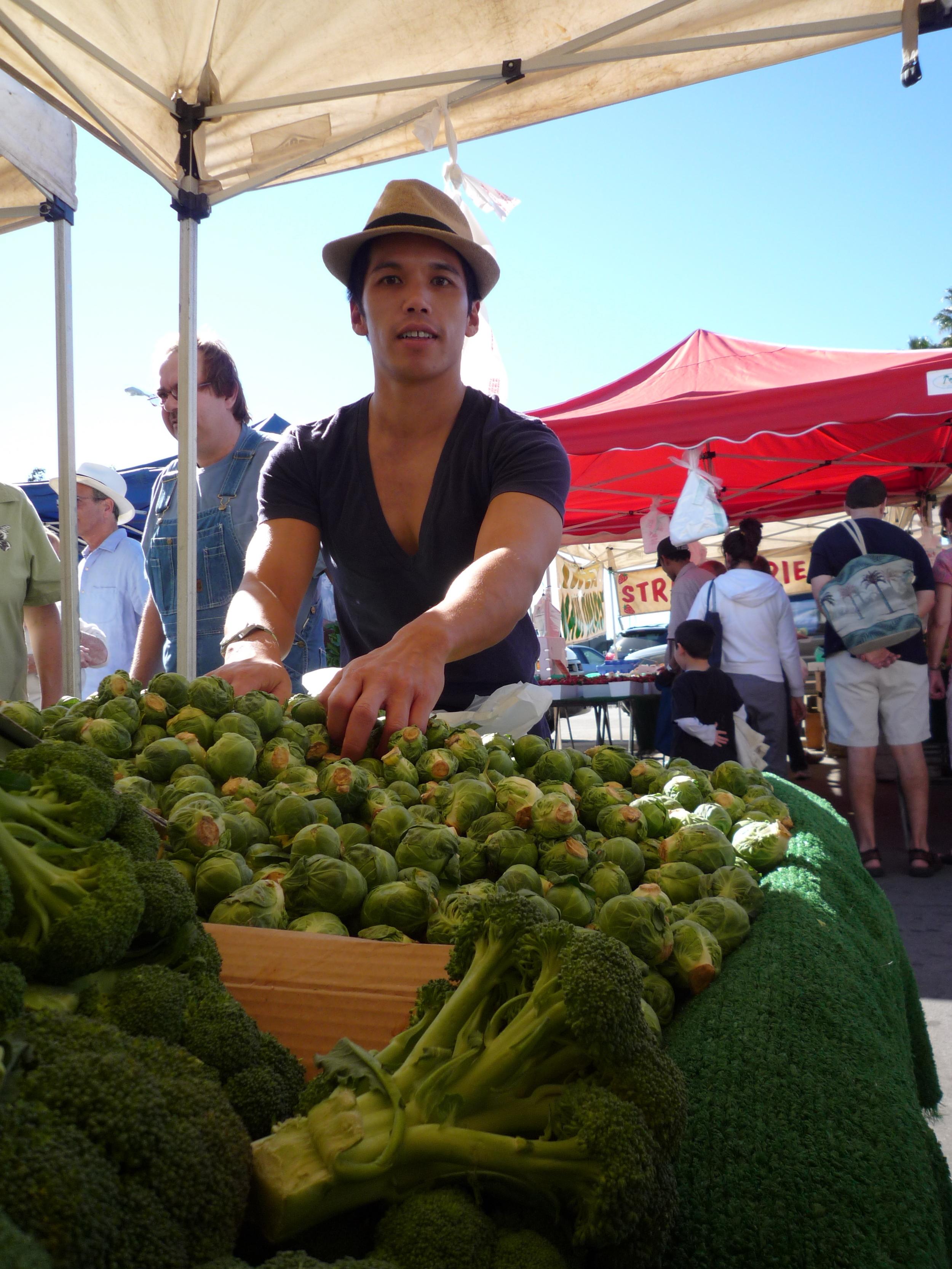 At the Long Beach Marina Farmer's market