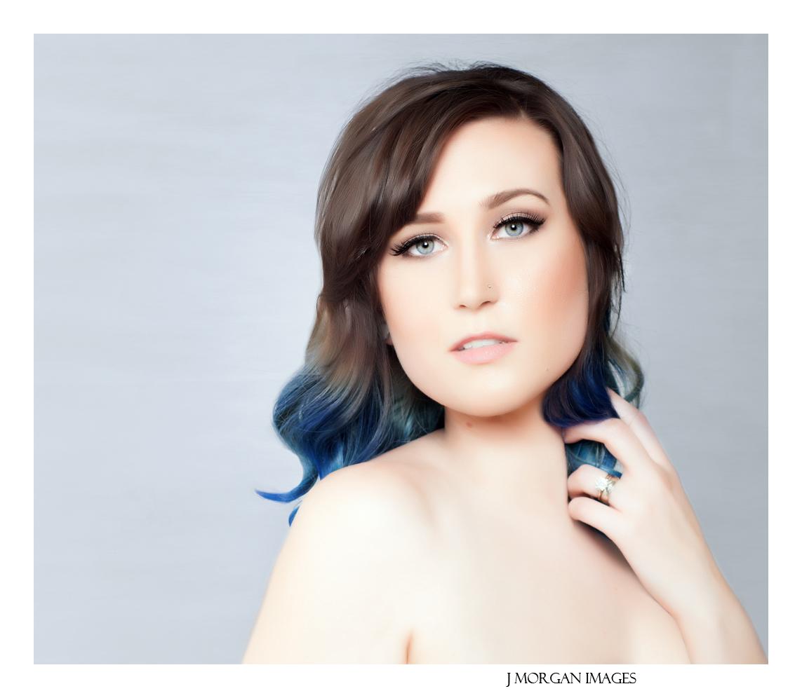 beautiful head shot-implied nude