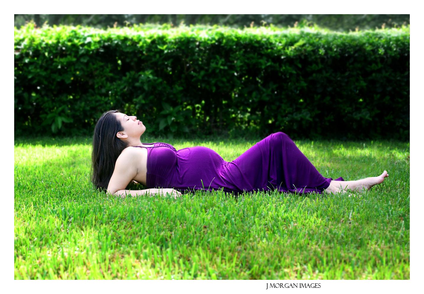backyard maternity outside