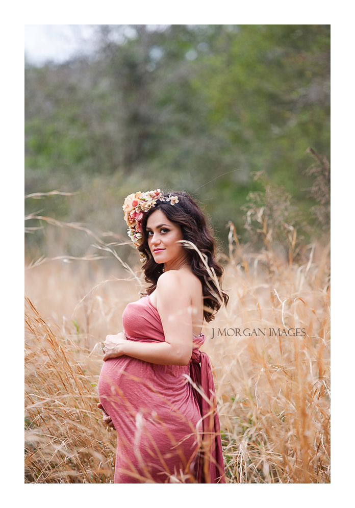 maternity in grain field