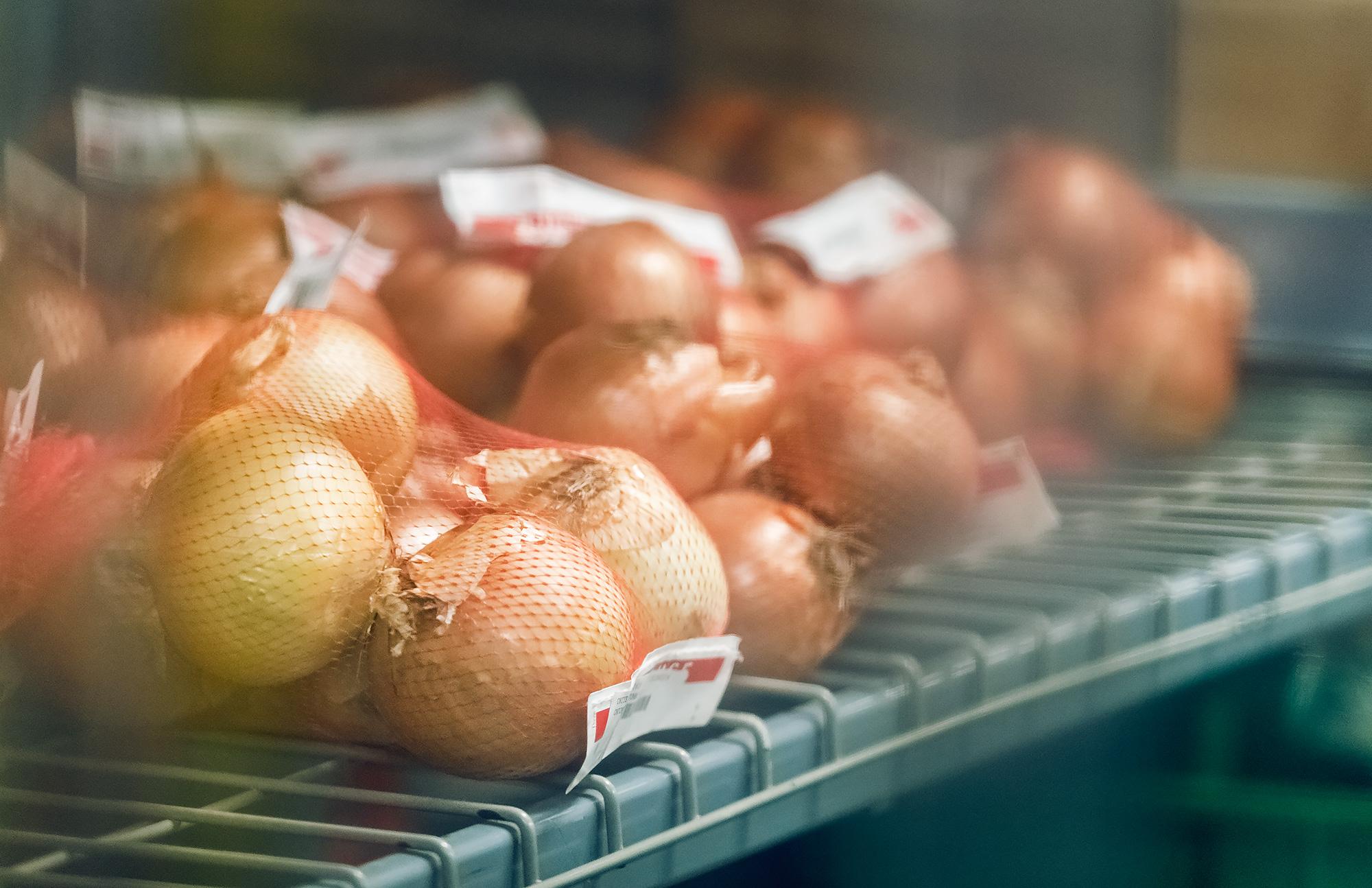 Onions through the Plastic