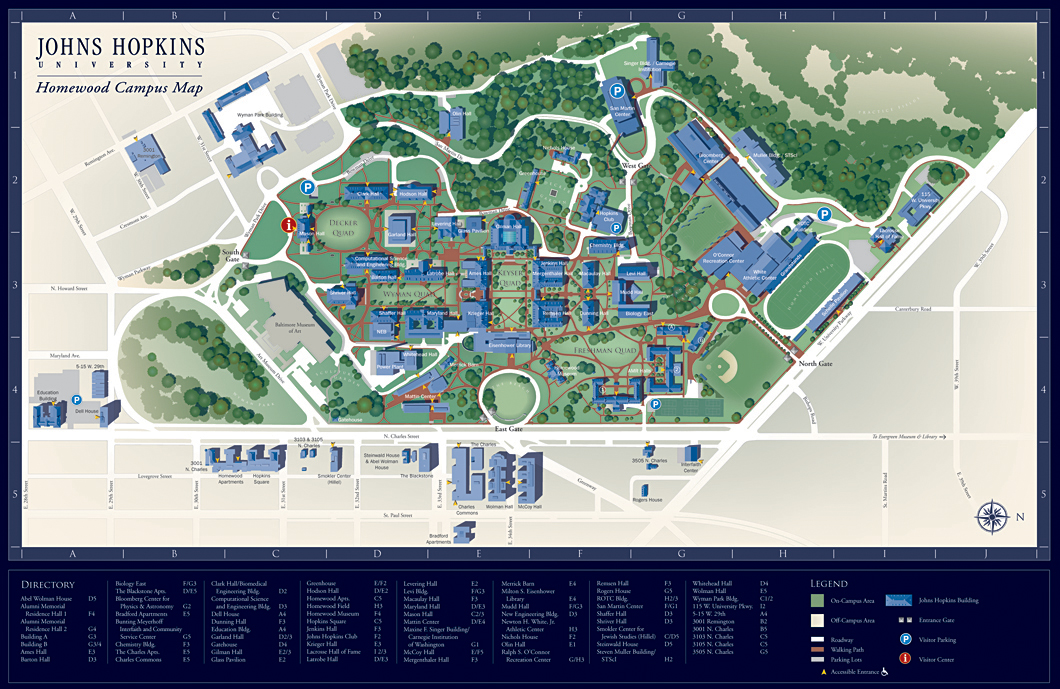 johns hopkins campus map Johns Hopkins University Marksbury Design johns hopkins campus map