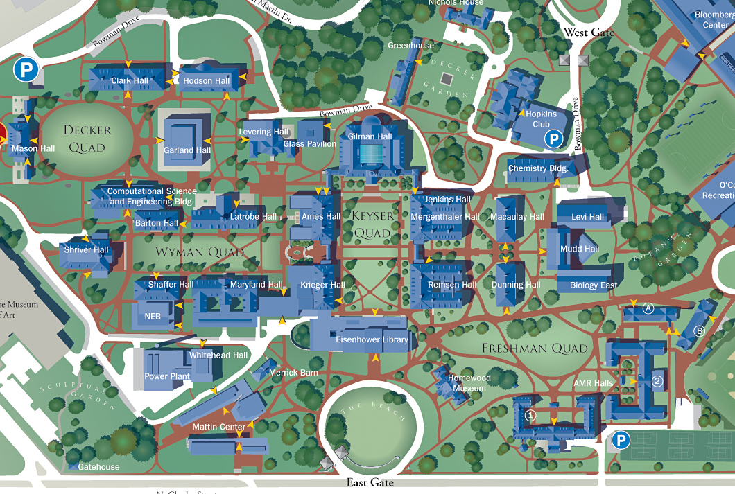 johns hopkins university campus map Johns Hopkins University Marksbury Design johns hopkins university campus map