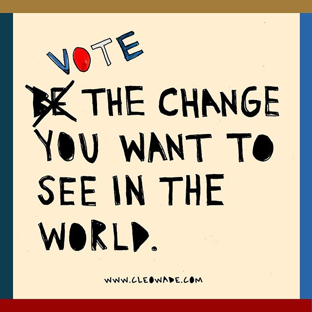 Today is #NationalVoterRegistrationDay ! My favorite holiday of the year.  Are you registered to vote? Are your friends? Do you want to help others get registered or learn about really important organizations that are out there in our country doing the lord's work to end voter suppression, put a stop to gerrymandering, and make sure employers understand the best ways to make sure all of their employees get time off to vote on Election Day? Great! Go to www.cleowade.com to get all of the info you need to get involved.  Together, we can (and we will) elect leaders who reflect who we are and what we care about, but it will only happen if we vote.  Let's do this America.  I love you so much. ❤️