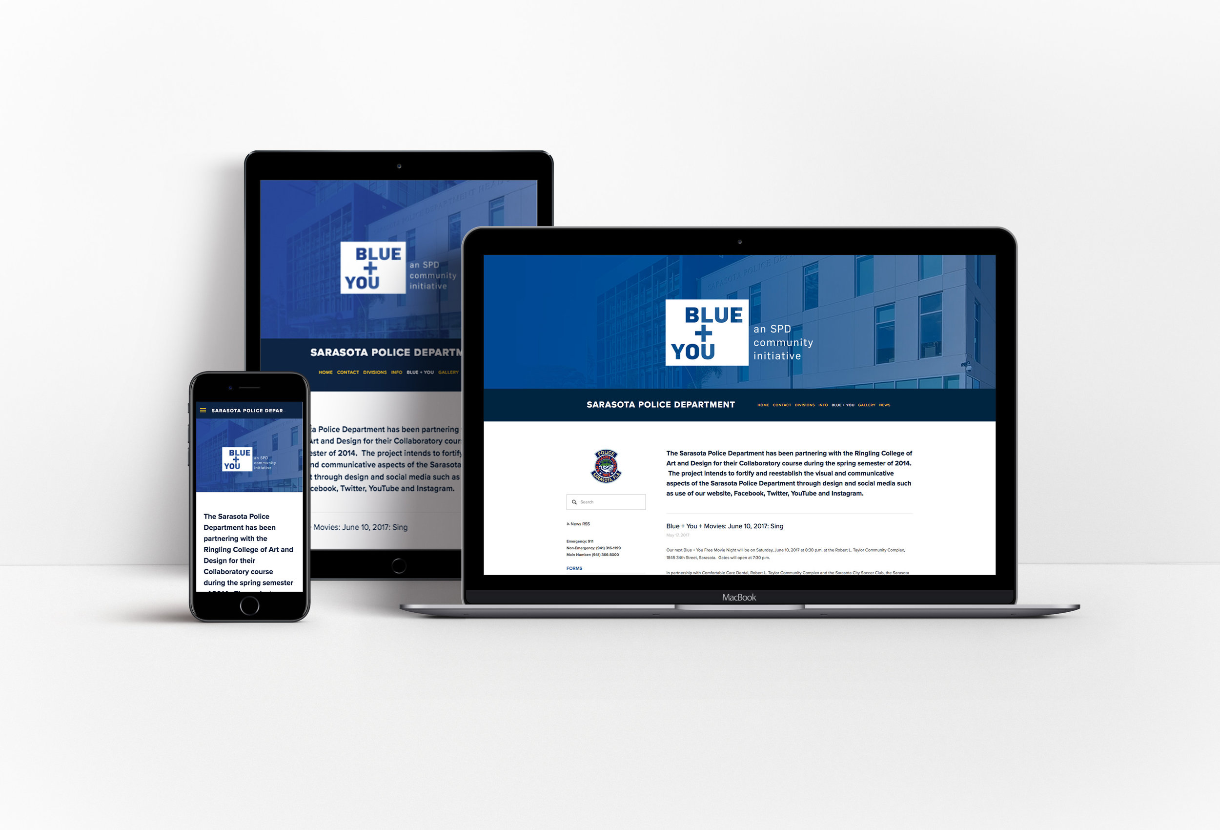 Website Re-Design - We created a new website for the Sarasota Police Department in order to update the look and feel, increase discoverability of important information, and to provide make it responsive for users on any device.