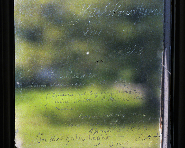 Window Inscription by Nathaniel Hawthorne & Sophia Hawthorne, The Old Manse