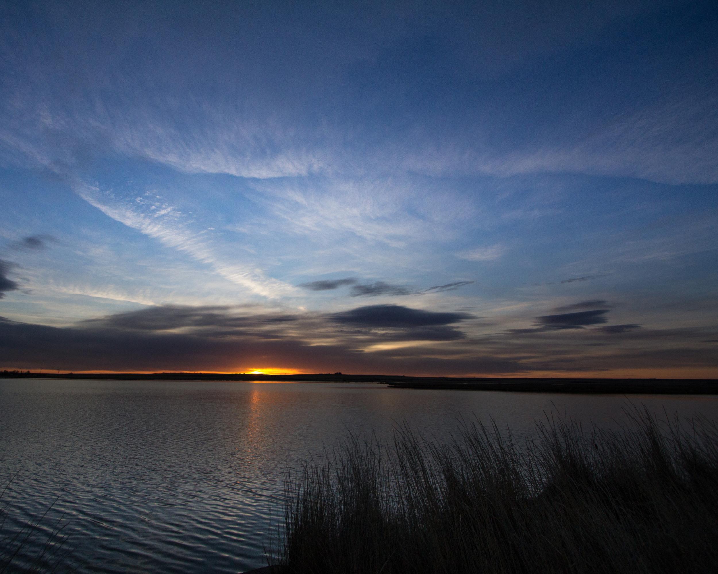 Sunset, Freezeout Lake WMA