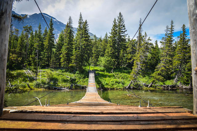 A footbridge along the PNT in Montana