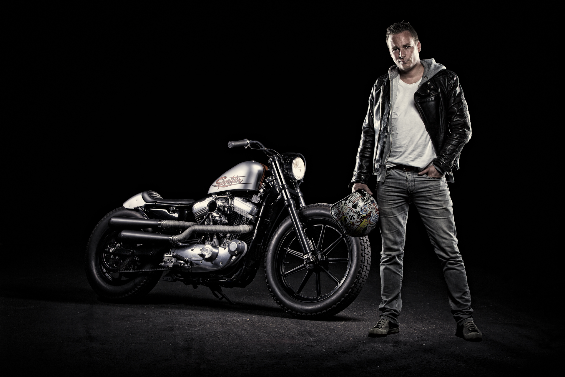 Ruben and his Harley Sportster 883