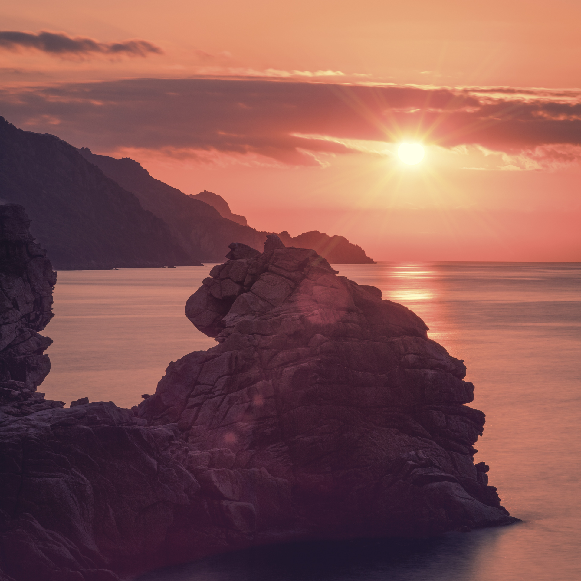 Sunset over Porta Ota, Corse