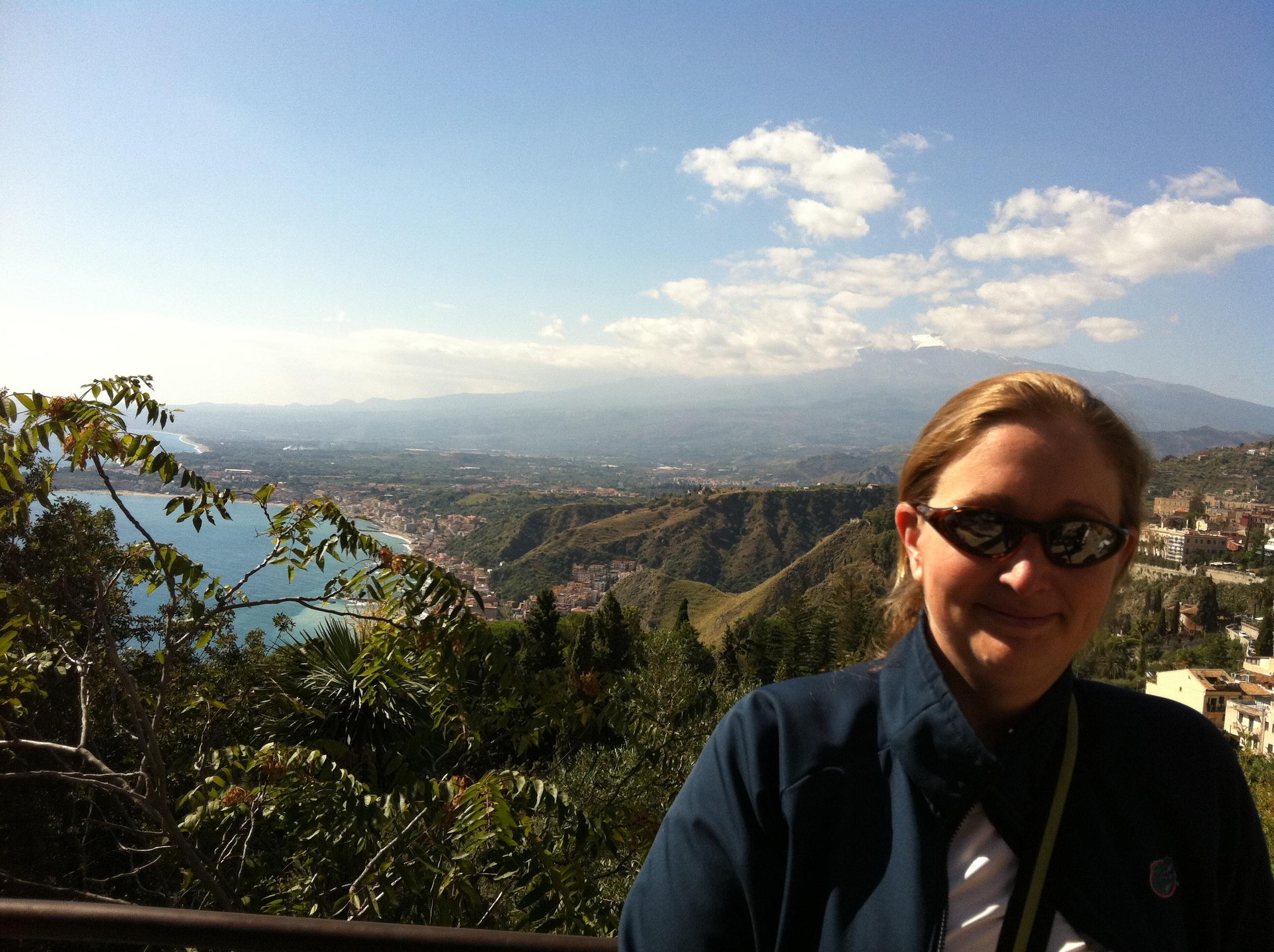 Theiri at Mt Etna, AiB Mediterranean Cruise - October 2011
