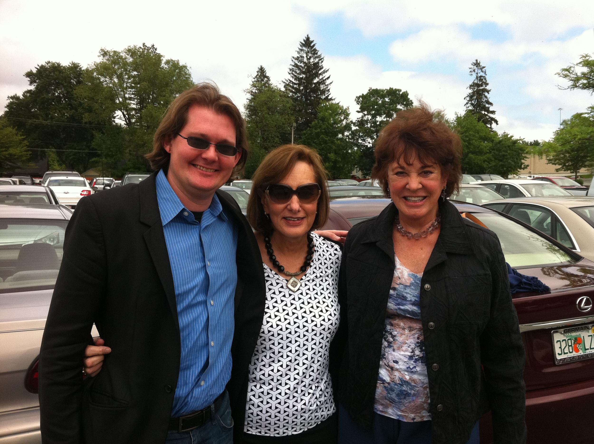 Robert, Joan, Marty in Sturbridge - June 2011