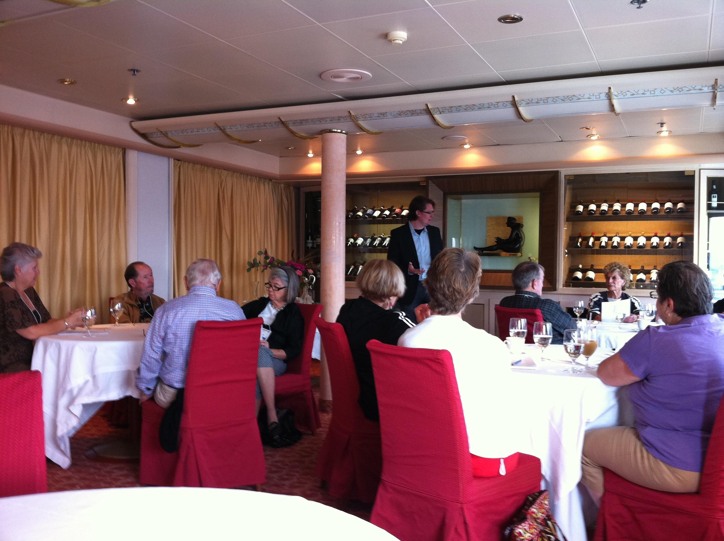Robert Teaching, AiB Mediterranean Cruise - October 2011