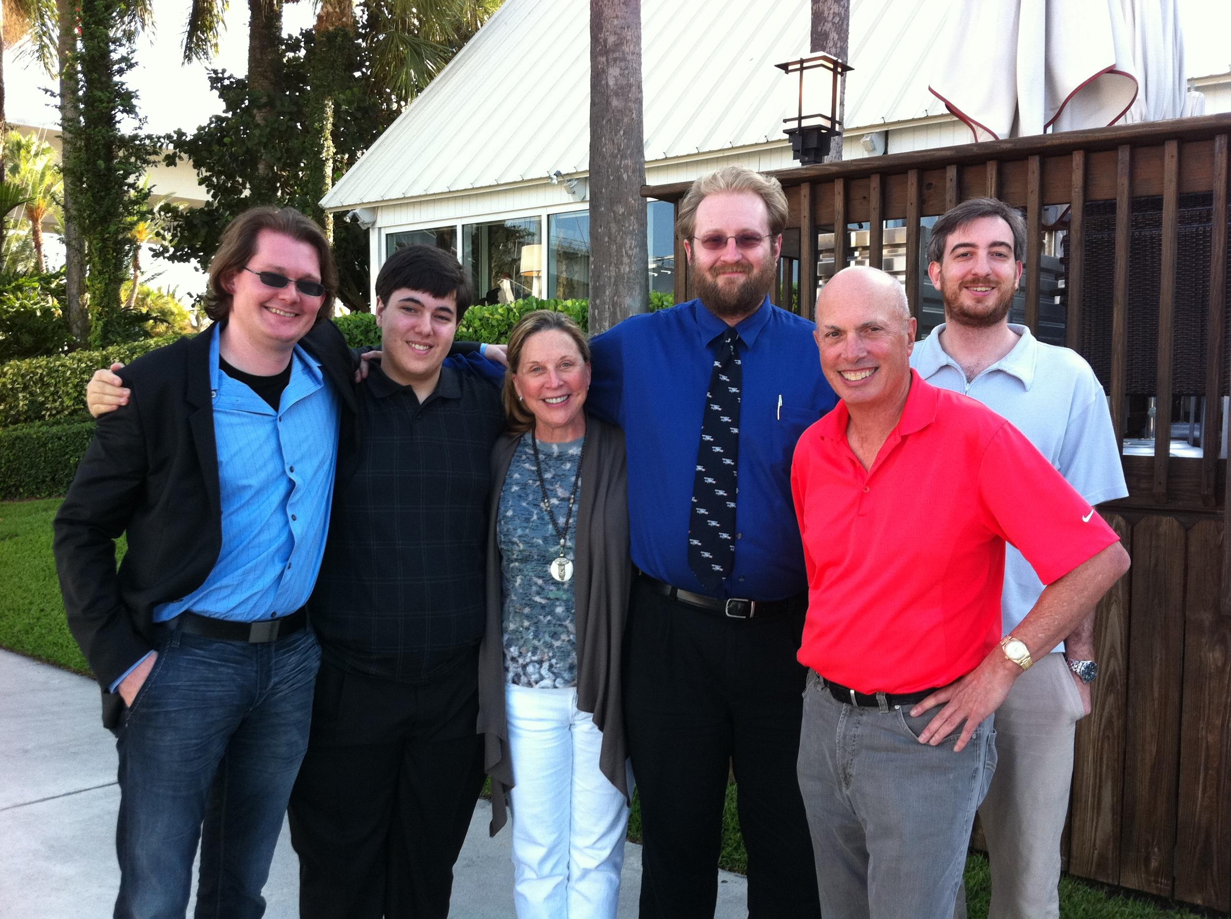 Robert, Adam K, Judy, McKenzie, Dale, Adam P in Ft Lauderdale Apr 11.jpg