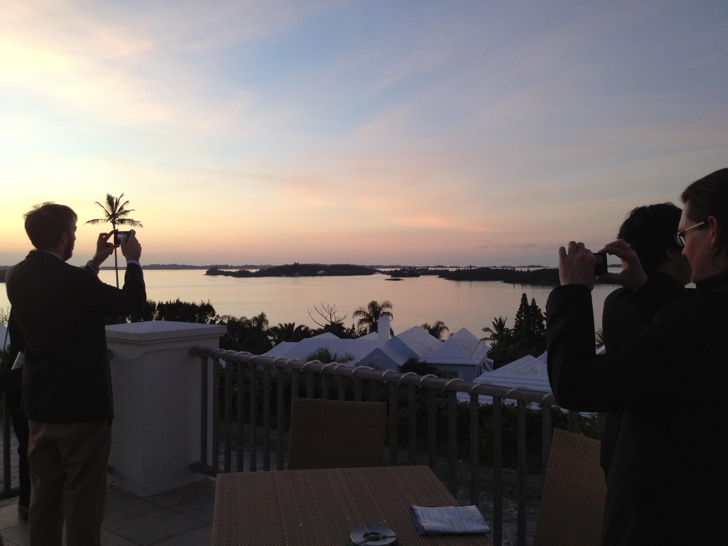 Dueling Vista Shots - Bermuda 2012