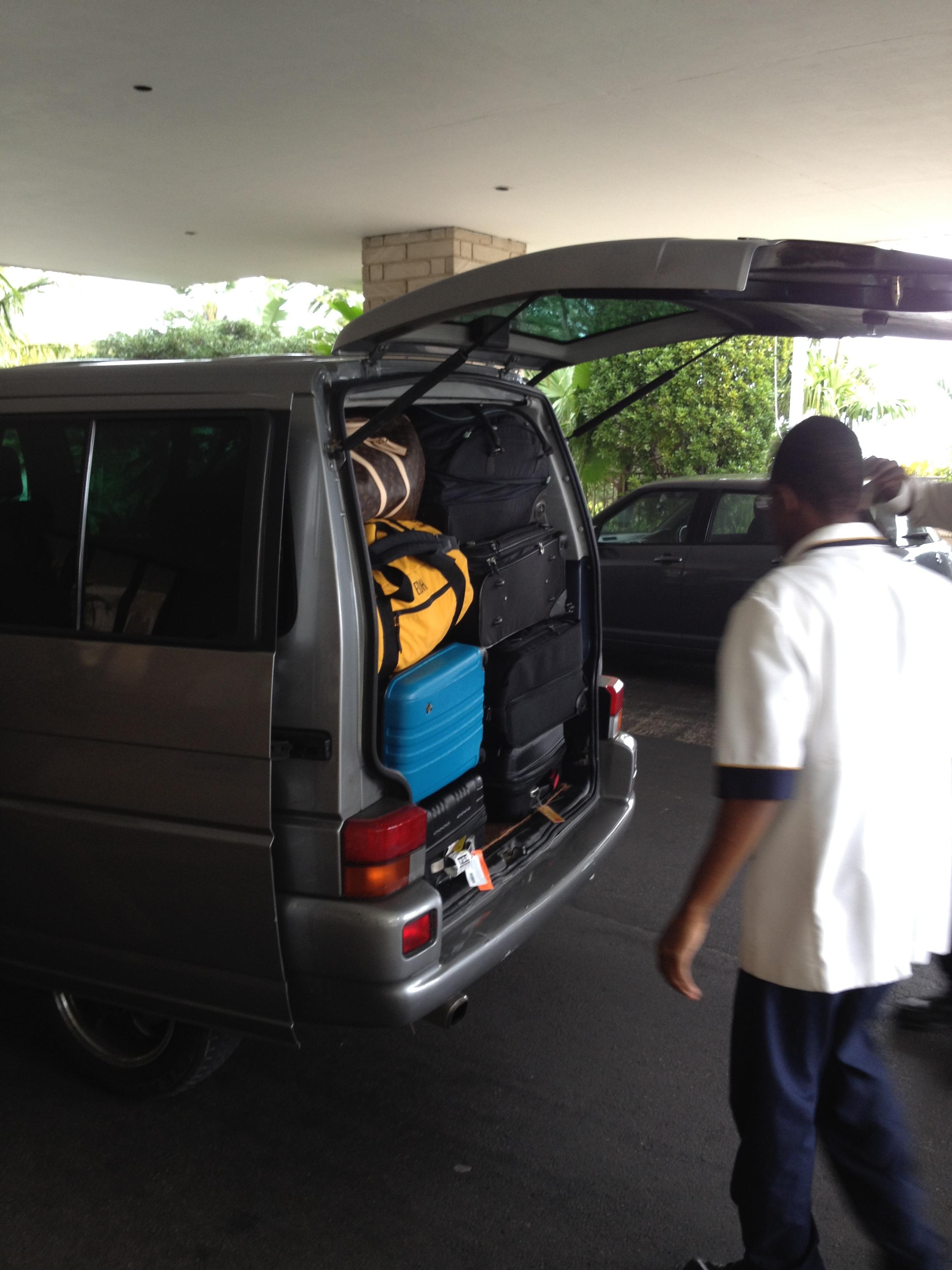 A Bridge Team does not travel light! - Bermuda 2012