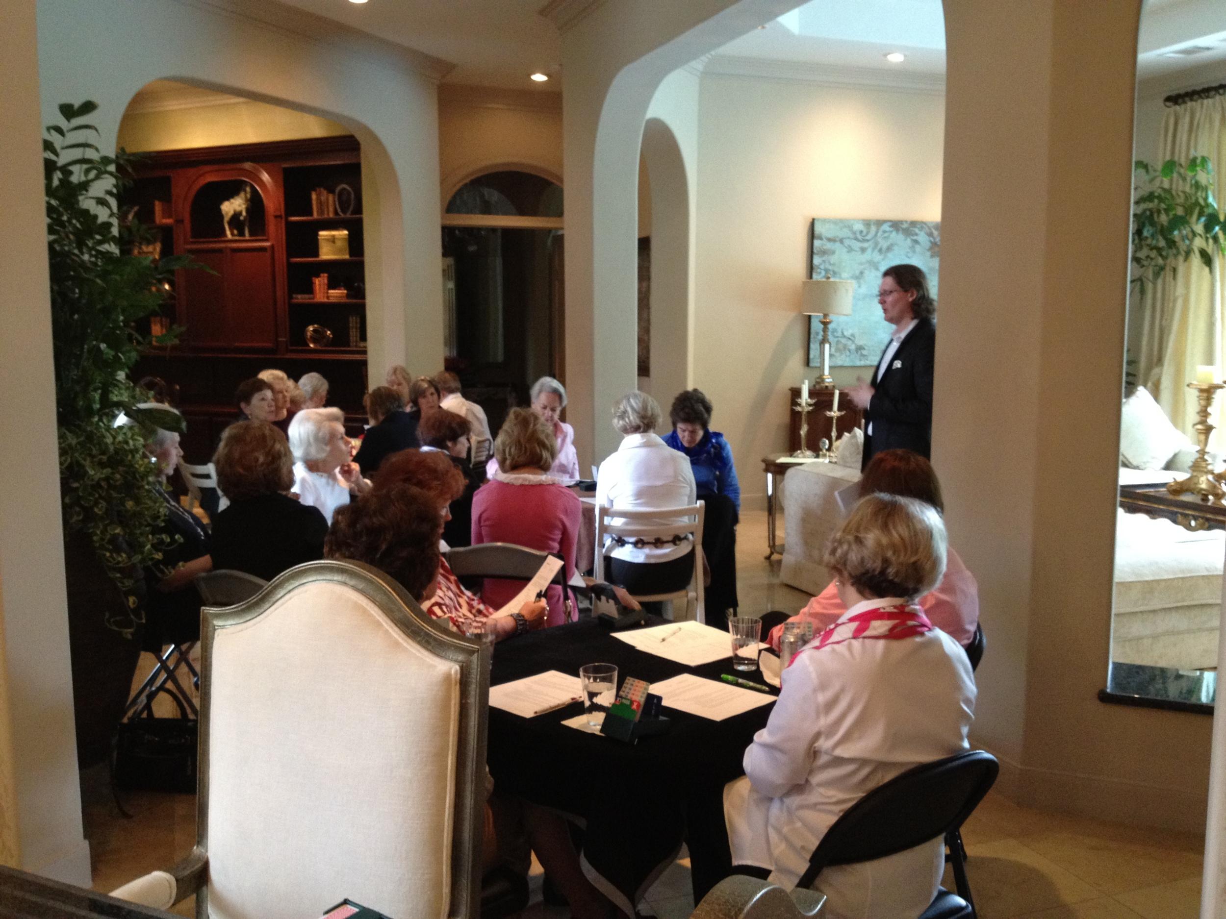 Seminar at Rosalie's - Houston 2012