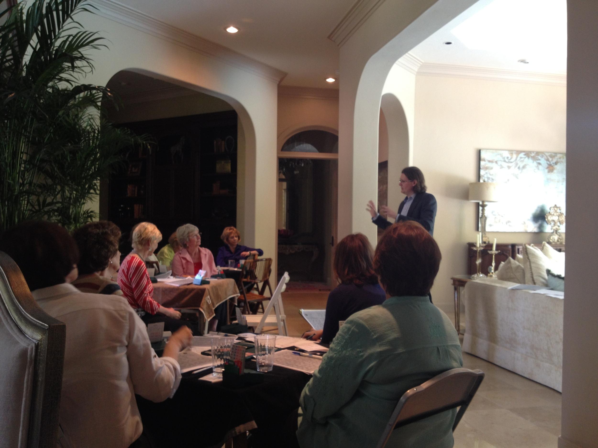 Seminars at Rosalie's - Houston 2013