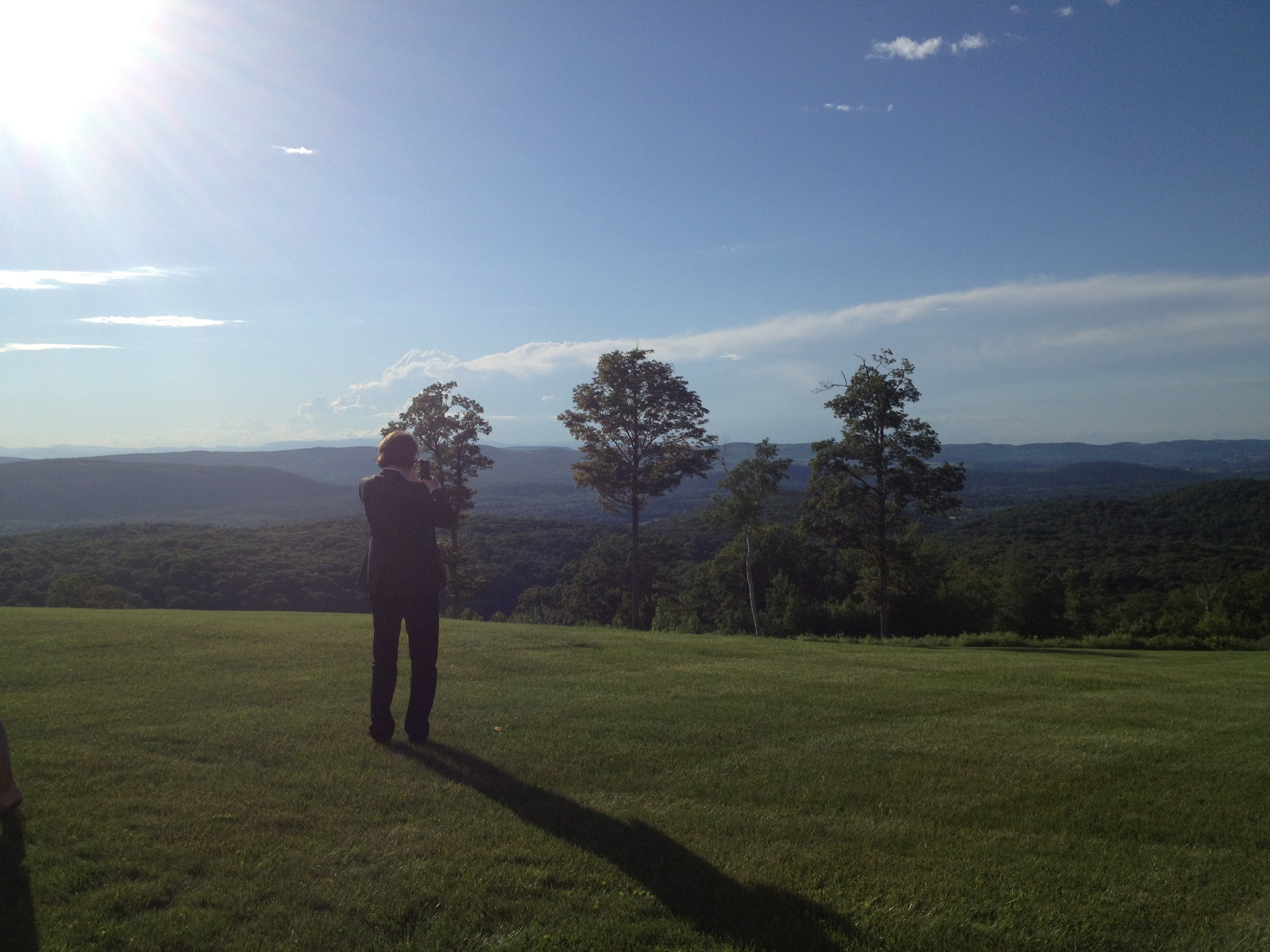 Robert takes in the view - NY 2013