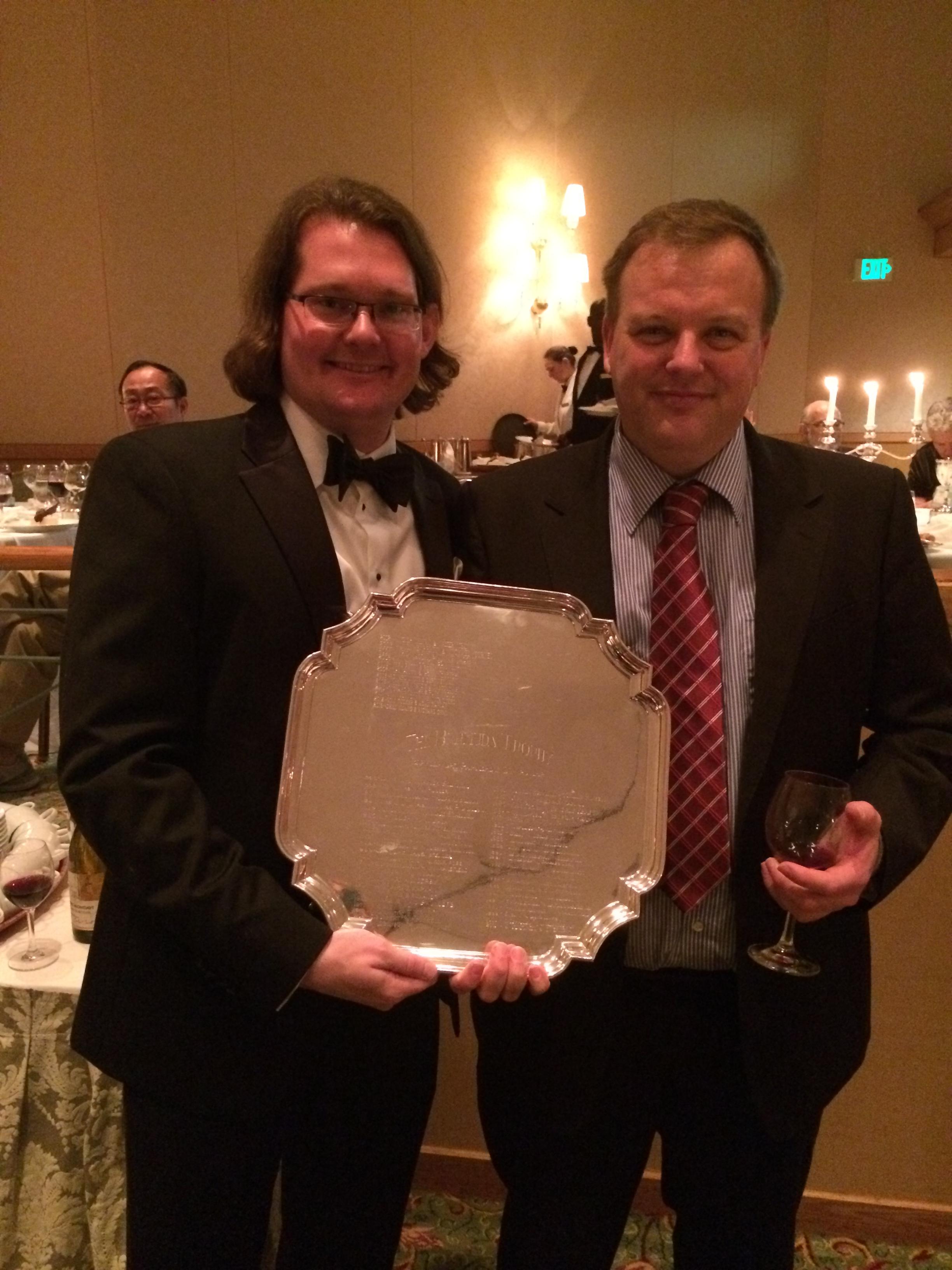Robert and John Glynn with Bermuda Pairs Trophy